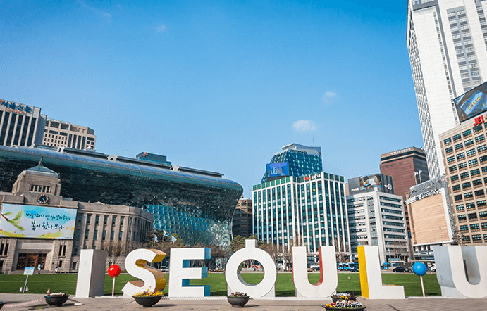 Take photo in 'I SEOUL U' zone