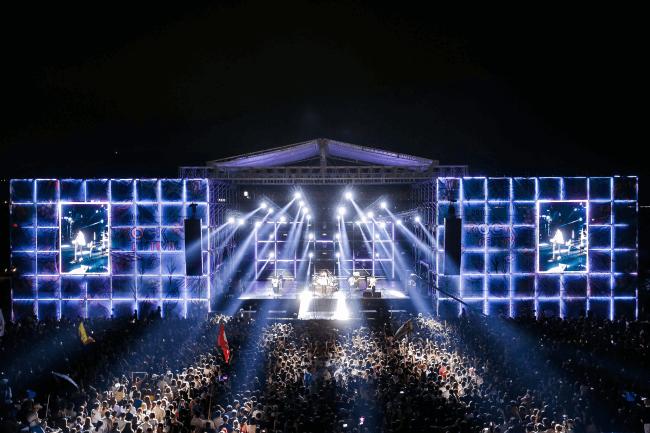 Berpesta di Festival Rock Internasional Busan