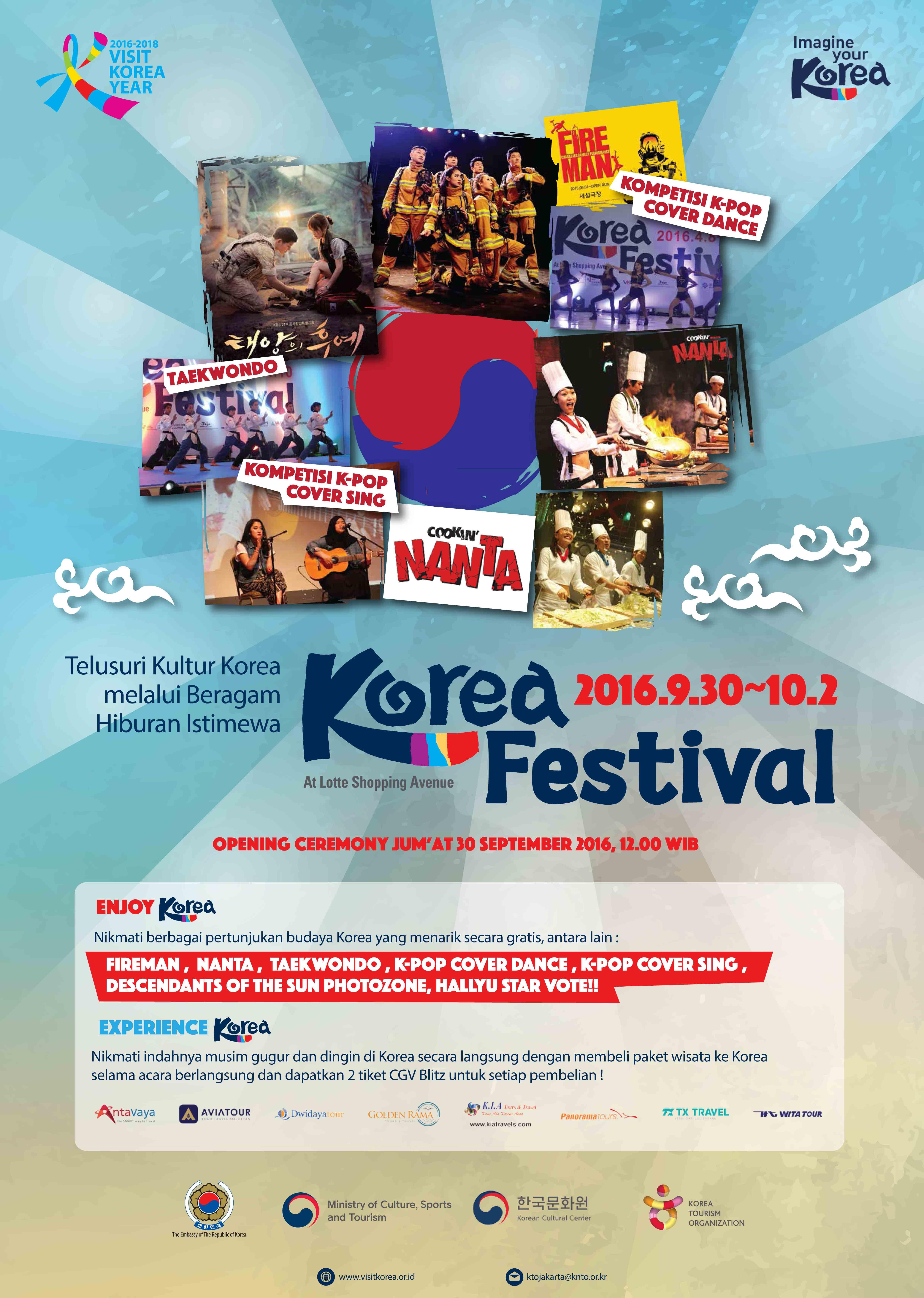 """Korea Tourism Organization Siap Gelar '2016 Korea Festival """" Autumn & Winter' di Jakarta"""