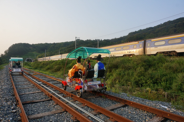 Jeonju Hanok Rail Bike