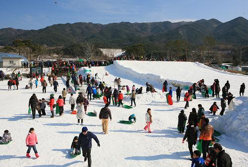 Festival Salju Jirisan Namwon Baraebong