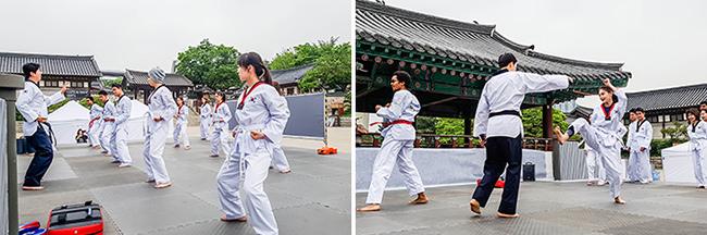 Datanglah untuk Belajar Taekwondo di Namsangol Hanok Village!