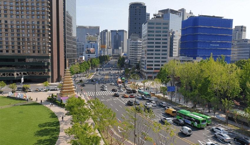 Nikmati Wisata Jalan Kaki atau Bersepeda di Sejong-daero Saramsup-gil di Seoul