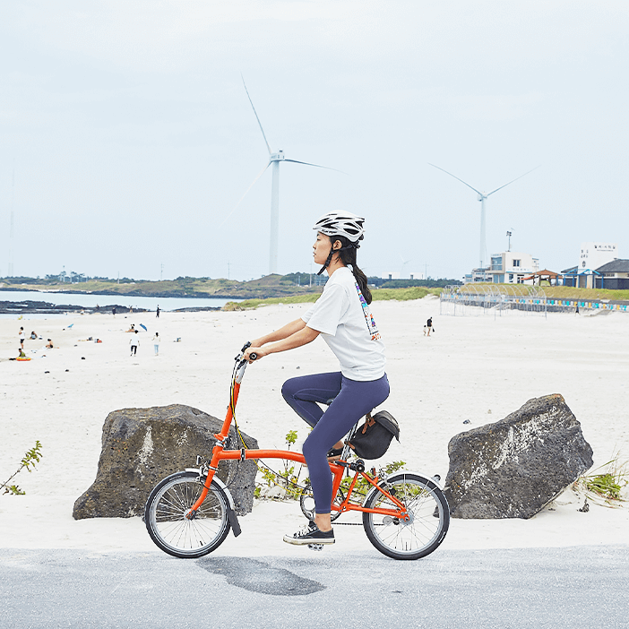 Bersepeda di Pulau Jeju