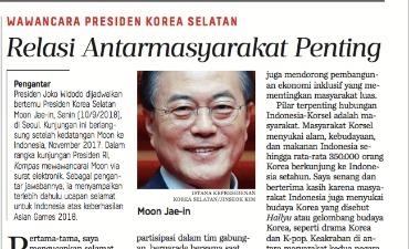 Wawancara Esklusif Presiden Korea Selatan Mr. Moon Jae In