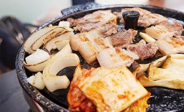 Samgyeopsal & Grilled Kimchi