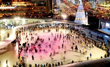 Keseruan Ice Skating dan Sledding di Korea saat Musim Dingin