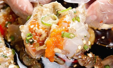Ganjang Gejang Crab Shell Bibimbap