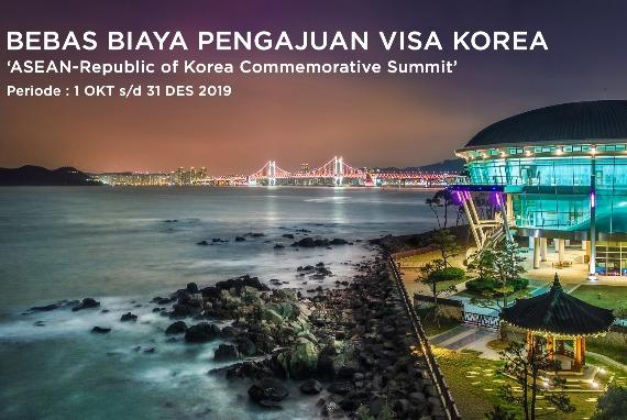 PEMBEBASAN BIAYA PENGAJUAN VISA KOREA