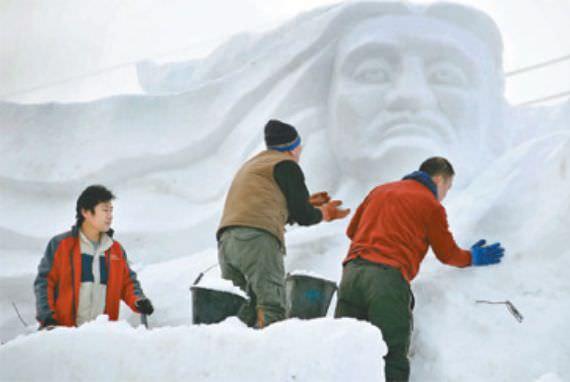 Pembukaan Hwacheon Trout Festival pada 9 Januari