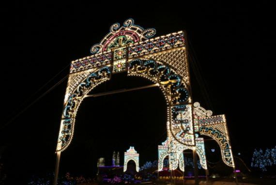 Festival Cahaya Pemandangan Malam Dunia Fantasi di Bucheon Aiins World