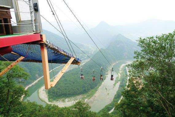 Pemandangan indah dari dataran tinggi Korea