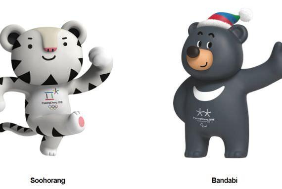 Maskot Olimpiade Musim Dingin PyeongChang 2018