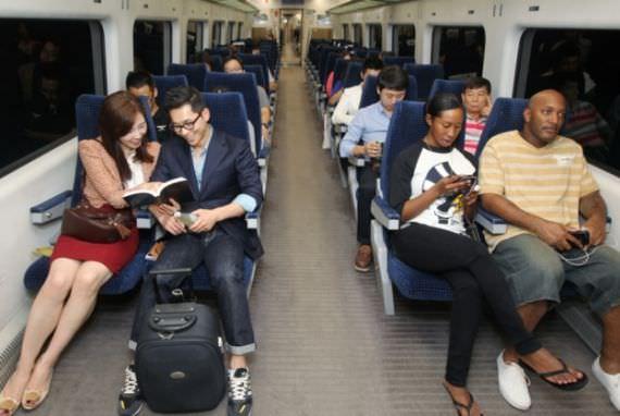 Layanan Wi-Fi di Kereta Airport Express (AREX)