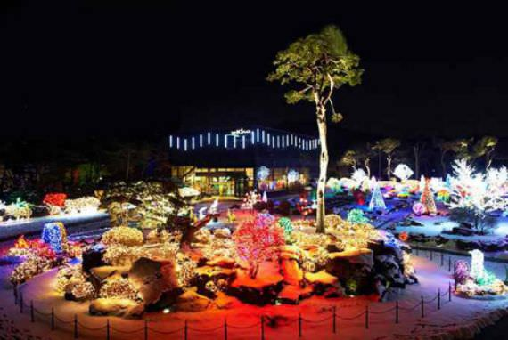 Festival Lampu di Kebun Raya Byeokchoji