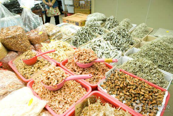 Kios Seafood Kering Pasar Jagalchi